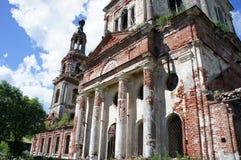 La façade du bâtiment du temple orthodoxe Images stock