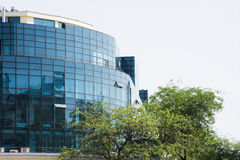 La façade en verre Image libre de droits