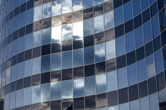 La façade en verre du bâtiment Photos stock
