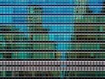 La façade en verre vert de l'ONU siège à New York City Photos stock