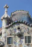 La façade moderniste de Batllo de maison, conçue par Gaudi Barcelone Photo libre de droits