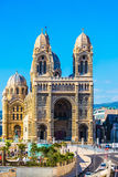 La façade de la cathédrale à Marseille Photo stock