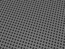 La fabbrica d'acciaio 3d del fondo dell'estratto del modello dell'ingranaggio rende Fotografia Stock