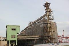 La fabbrica fuori della struttura della scala a SHENZHEN Immagini Stock Libere da Diritti