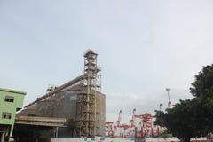 La fabbrica fuori della struttura della scala a SHENZHEN Fotografia Stock