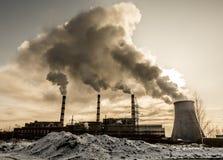 La fabbrica fumed Fotografia Stock Libera da Diritti