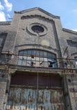 La fabbrica molto vecchia del metallo Fotografie Stock
