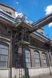 La fabbrica molto vecchia del metallo Fotografia Stock