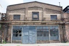 La fabbrica molto vecchia del metallo Immagine Stock
