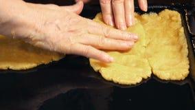 La fabbricazione della torta stock footage