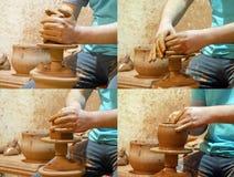La fabricación de una cerámica Fotos de archivo libres de regalías