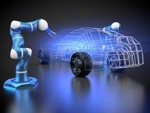 La fabrication de voiture est en cours illustration libre de droits