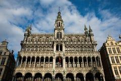 La facciata decorata del museo della città di Bruxelles ha individuato nella t Fotografie Stock Libere da Diritti