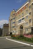La facciata della casa con mattoni a vista Immagine Stock