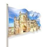La facciata della cattedrale di Batalha nel Portogallo & x28; Europe& x29; Fotografia Stock Libera da Diritti