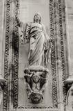La facciata della cattedrale di Milano, dettaglio Immagine Stock Libera da Diritti