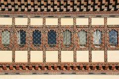La facciata di una casa privata in Gangtey, Bhutan Fotografia Stock