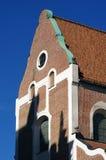 La facciata di vecchia costruzione si è accesa dal sole Fotografia Stock Libera da Diritti