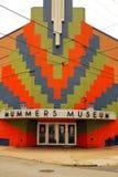 La fachada colorida del museo de las máscaras en Philadelphia Foto de archivo libre de regalías
