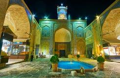 La fachada de Ganjali Khan Mosque, Kermán, Irán Imágenes de archivo libres de regalías