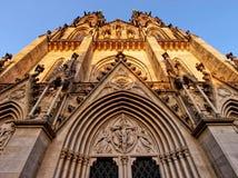 La fachada de la catedral de St Wenceslaus Imagen de archivo libre de regalías
