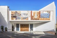 La fachada de la iglesia parroquial de Nuestra Senora de las Nieves es l Imagen de archivo