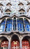 La fachada de las casas Battlo de la casa Foto de archivo