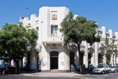 La fachada de Nouveau del arte en Santiago hace Chile Fotografía de archivo