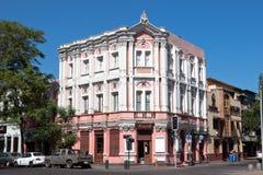 La fachada de Nouveau del arte en Santiago hace Chile Fotos de archivo
