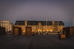 La fachada del almirante Hotel de Copenhague imagen de archivo libre de regalías