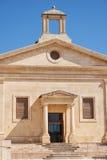 La fachada del edificio de la bolsa de acción de Malta Valletta, Malta Foto de archivo libre de regalías