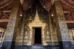 La fachada exquisita del templo Foto de archivo