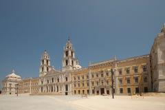 La fachada - palacio nacional de Mafra Fotografía de archivo