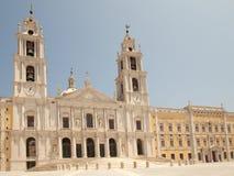 La fachada - palacio nacional de Mafra Foto de archivo