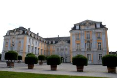 La fachada y las alas de Bruhl se escudan en Alemania Foto de archivo libre de regalías