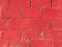 La factura, pared de ladrillo roja. fotos de archivo