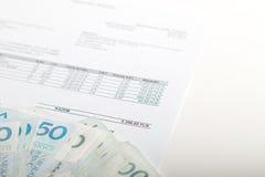 La facture que vous devez payer image stock