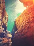 La falaise Photo libre de droits