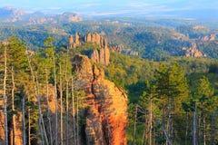 La falaise bascule le panorama, Belogradchik, Bulgarie Photos libres de droits