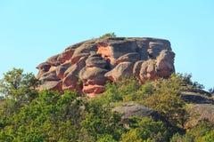 La falaise bascule le panorama, Belogradchik, Bulgarie Image stock