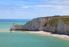 La Falaise d'Amont-Etretat Stock Photo