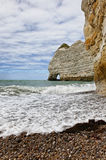La Falasise d'Amont-Etretat Stock Photo