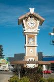 La Falda. ARGENTINA- AUGUST 24, 2015:   main square with its landmark clock tower of Swiss inspiration Royalty Free Stock Photo