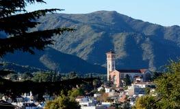 La Falda, Córdoba, Argentina. View of the church of La Falda Royalty Free Stock Photos