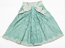 La falda con el cordón. Foto de archivo