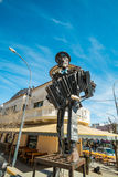 La Falda tango monment. LA FALDA, ARGENTINA- AUGUST 24, 2015:  La Falda  monument to Tango. The Argentinian town hosts a major yearly tango festival Royalty Free Stock Photography