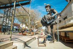 La Falda tango monment. LA FALDA, ARGENTINA- AUGUST 24, 2015:  La Falda  monument to Tango. The Argentinian town hosts a major yearly tango festival Stock Photo