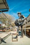 La Falda tango monment. LA FALDA, ARGENTINA- AUGUST 24, 2015:  La Falda  monument to Tango. The Argentinian town hosts a major yearly tango festival Stock Photography