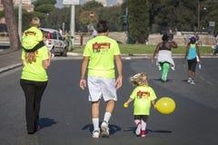 La fame funziona (Roma) - PAM - un'intera famiglia Fotografie Stock Libere da Diritti