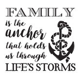 La famiglia è l'ancora Immagine Stock